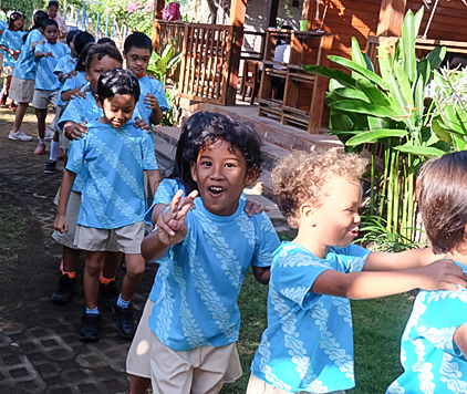 Elementary classes at Trihita Alam Eco School bali